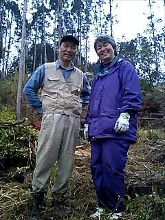 千年の森、鶴見さんご夫婦 Tsurumi-san couple of 1000year forest