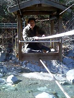 奥祖谷名物、野猿 Okuie speciality, Yaen,wild monkey