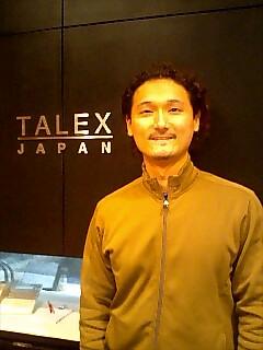 タレックスの田村さん Tamura-san from talex