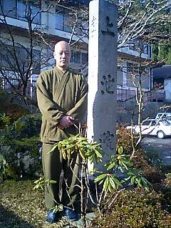 高野山上池院の田島さん Tajima-san from Jyouchi-in Koya mountain