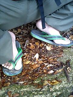 ビーチサンダル山登り仕様 Beach sandal for mountain walking