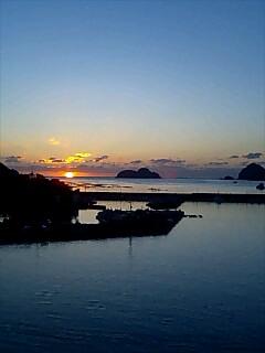 今日の朝日1 Today's sun rise1