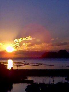 今日の朝日2 Today's sun rise2