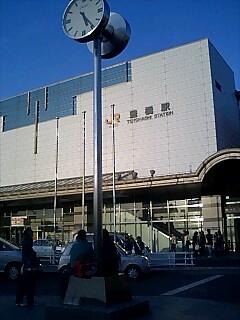 豊橋駅まで歩きました。Walked to Toyohashi station