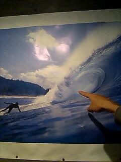 波の神様 Wave god