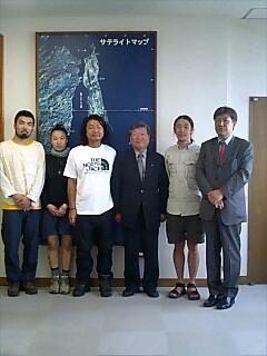 稚内、横田耕一市長訪問 Visiting mayor of Wakkanai