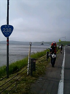 国道238南下中 Walking south on route 238