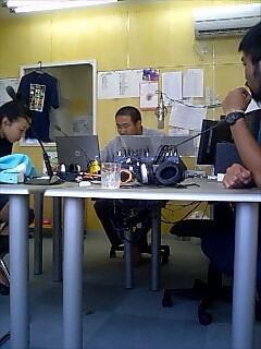 名寄市コミュニティーラジオ、ラジオテッシで話す Talking at Nayoro city community radio, Radio Tessi