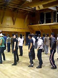 富良野塾練習風景 Practice sceen, furano school