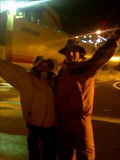 室蘭フェリー乗り場到着 arriving muroran ferry port