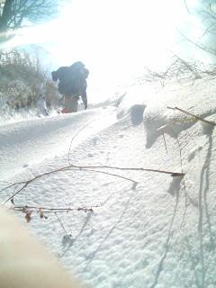 誰も居ない雪の峠越え