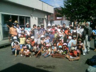 札幌「子供の家」に苗木贈呈。チーム・アースデイ北海道とナナオサカキの突撃訪問