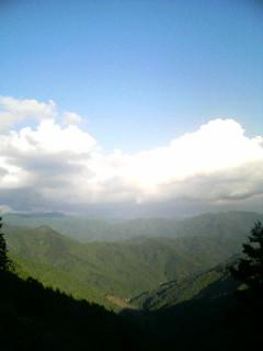 高知県梼原町の山々