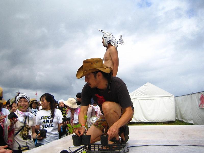 ラブ植樹@Rising Sun Rock Festival