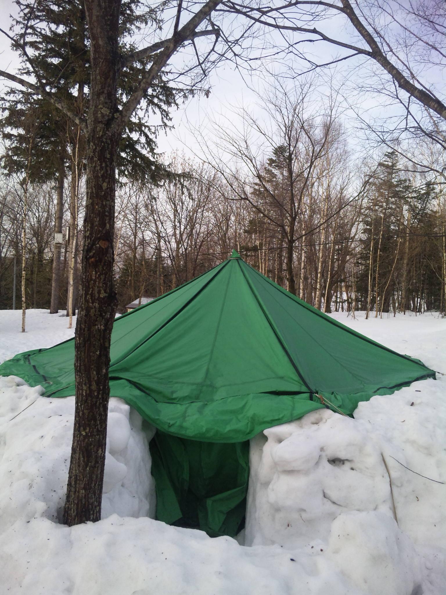 人生初の雪中キャンプ