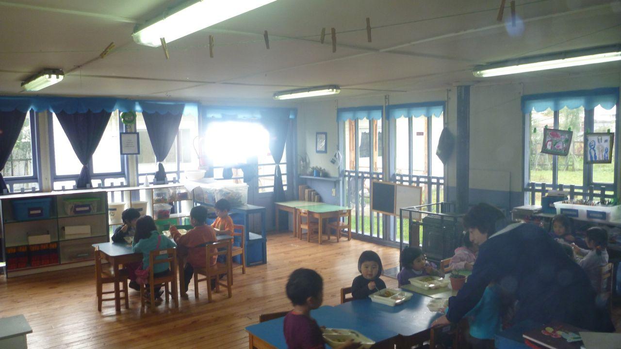 チリの保育園、お昼の風景