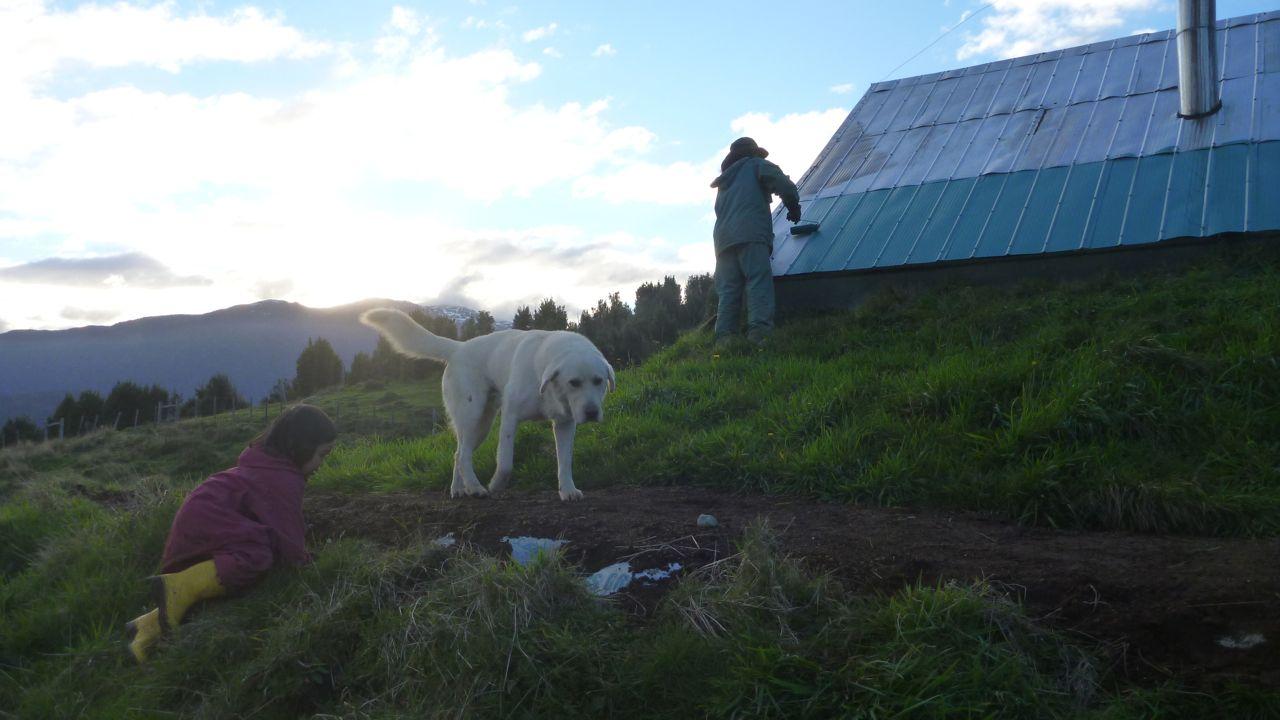 チリのパタゴニア、アースバッグハウス