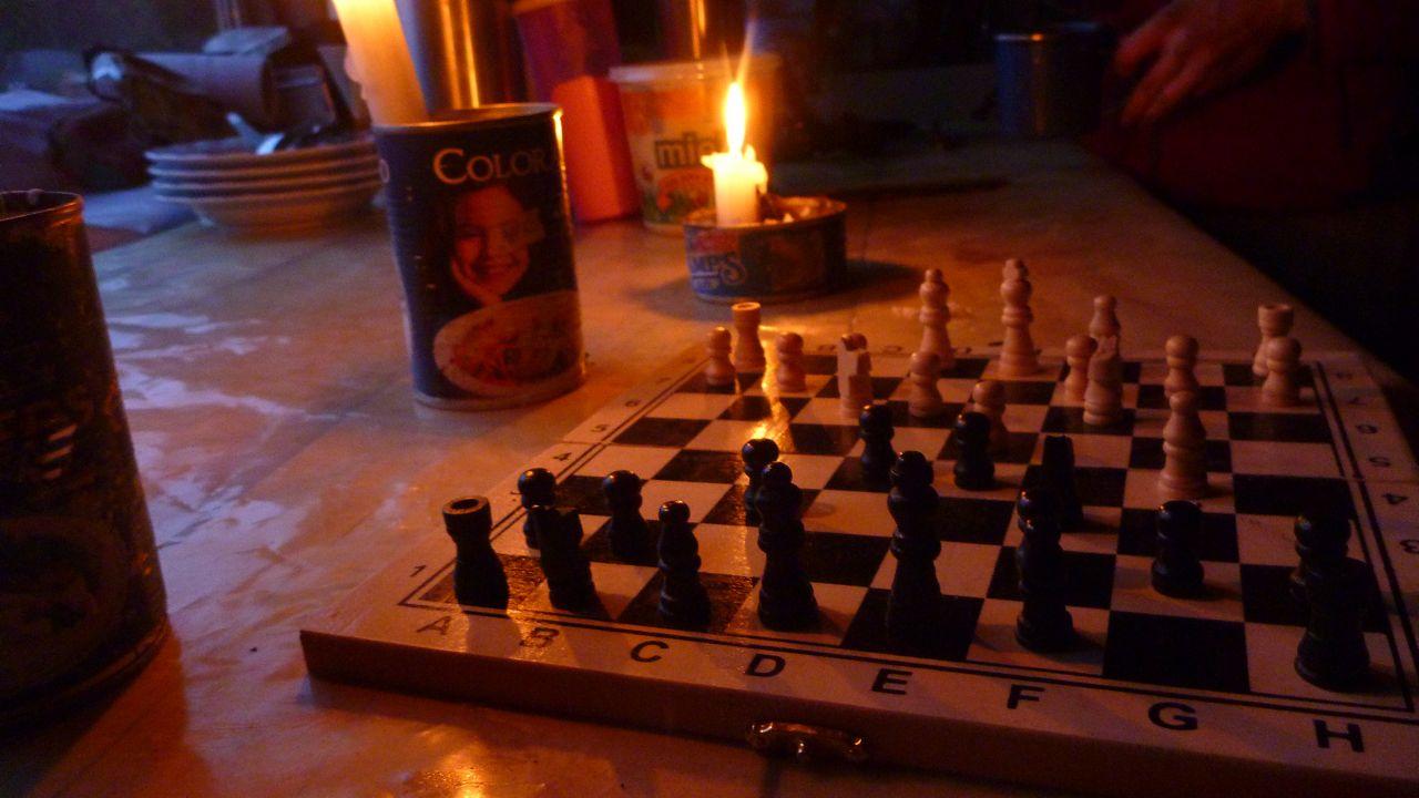 仕事の後は恒例キャンドルチェス