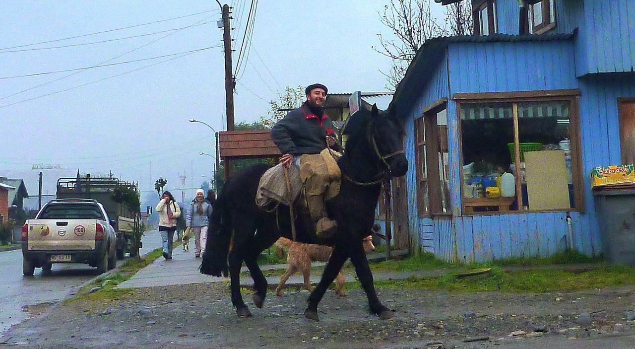 パタゴニアでは馬が大事な交通手段